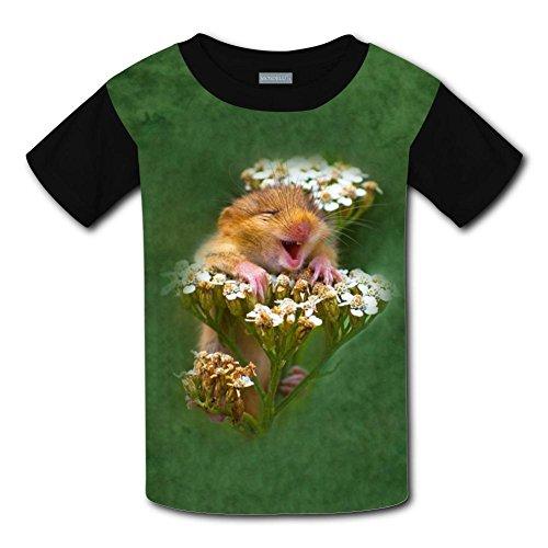 Yangjio T-Shirts Happy Hamster Costume Xs Short Sleeve For Youth ()
