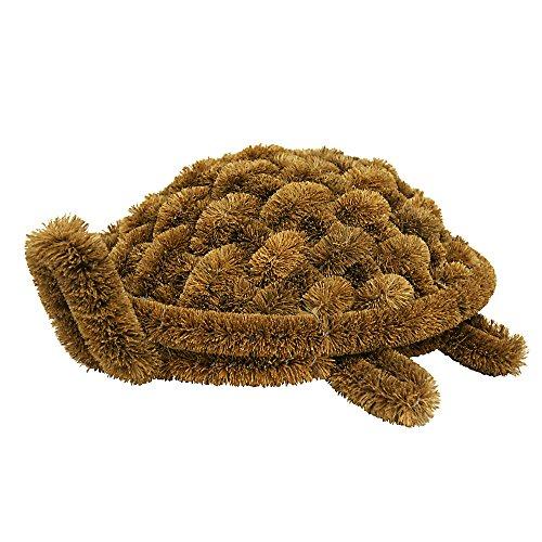 "Rubber-Cal ""Turtle Coir Boot Scraper Doormat, 6 by 12 by 15-Inch"