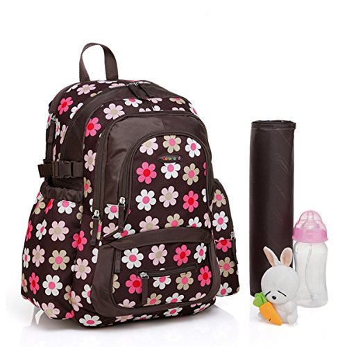 bigforest gran capacidad momia multifunción mochila bolsa de viaje bolso de maternidad Baby Diaper Nappy bolso cambiador Flower Talla:talla única Flower