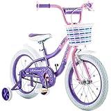 "Best Seller Bike for Children 16"" Schwinn Twilight Girls' Bike, Pink/Purple | Schwinn easy-to-pedal | Easy Adjustable Seat Post"