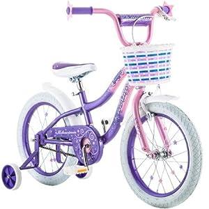"Best Seller Bike for Children 16"" Schwinn Twilight Girls' Bike, Pink/Purple | Schwinn easy to pedal | Easy Adjustable Seat Post"