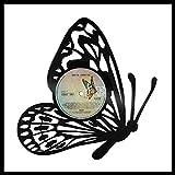 VinylShopUS - Butterfly Vinyl Wall Art Framed Record Decorative Design Gift | Unique Gift for Her | Home Kid's Room Decor