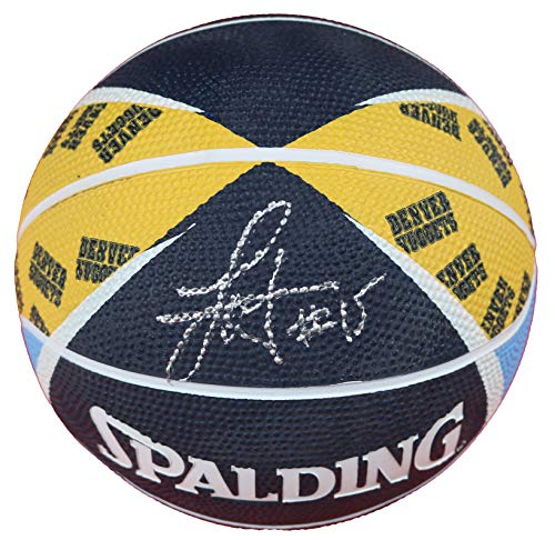 Nikola Jokic Denver Nuggets Signed Autographed Spalding Nuggets Logo Mini Basketball