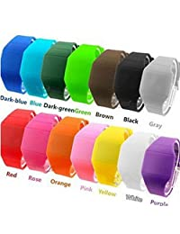 LinTimes Silicone Electron Led Gift Watch Outdoor Sports Watch Digital Watch for Kids Children