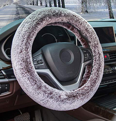 (Best-Shops Soft Stretchable Sheepskin Black Steering Wheel Cover Protector - A Must Have for All Car Owners for a More Comfortable Driving)