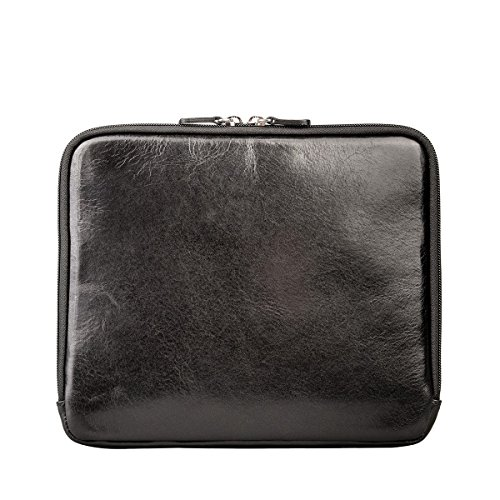 Maxwell Scott Luxury Black Leather iPad Sleeve (The Luzzi) - One Size by Maxwell Scott Bags (Image #3)