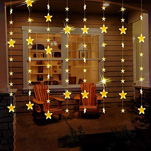 MaLivent 80 Stars 144 LED Curtain String Lights,