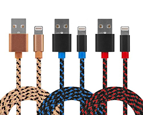 lightning-cable-for-iphone-3-pack-braided-33-feet-in-black-blue-black-red-peach-cable-for-iphone-w-l