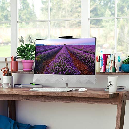 HP Pavilion 27-inch All-in-One Desktop, tenth Gen Intel i7-10700T Processor, 16 GB RAM, 1 TB SSD Storage, Full HD IPS Touchscreen, Windows 10 Home, Wireless Keyboard and Mouse Combo (27-d0080, 2020)