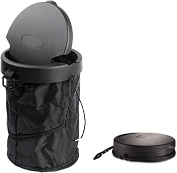 Universal Traveling Portable Collapsible Pop-up Leak Proof Car Trash Can with Cover Waterproof Car Garbage Can Car Trash Waste Bin,Car Trash Bag,Car Garbage Bag Organizer,Car Trash Can with Lid LA-IFT