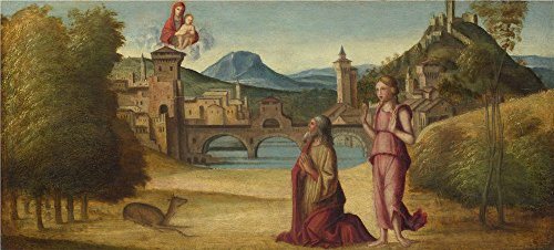 'Italian Venetian Augustus And The Sibyl ' Oil Painting, 18 X 40 Inch / 46 X 101 Cm ,printed On Polyster Canvas ,this Replica Art DecorativePrints On Canvas Is Perfectly Suitalbe For Basement Decor And Home Decoration And Gifts