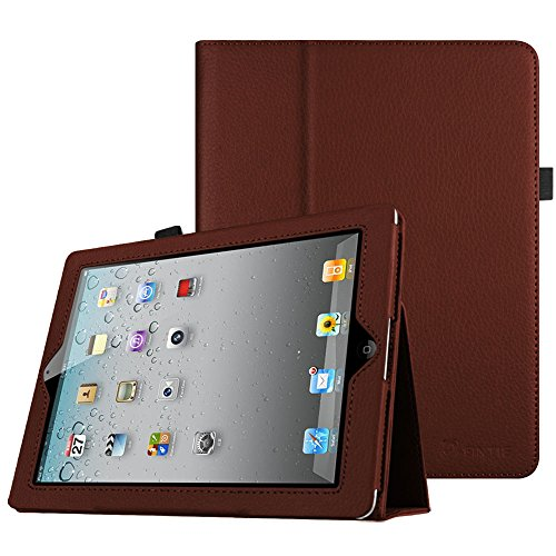 Fintie iPad 2/3/4 Case - Slim Fit Folio Stand Case Smart Protective Cover Auto Sleep / Wake Feature for Apple iPad 2, iPad 3 & iPad 4th Generation with Retina Display - Brown