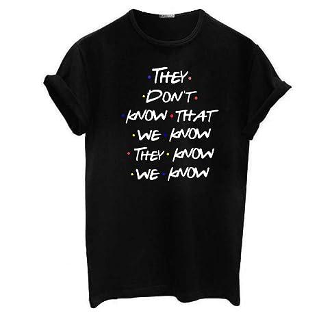Lamdoo Mujer Unisex Talla Extra Camiseta Enrollable de ...