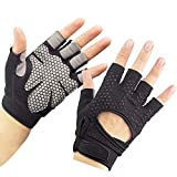 Breathable Ultralight Weight Lifting Sport Gloves, Gym Workout Exercise Gloves Support for Powerlifting, Cross Training, Fitness, Bodybuilding, Best for Mens & Women (M)