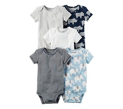 Carter's Baby Boys' 5-Pack Rhino Bodysuits 3 Months ()