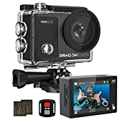 DragonTouch Vision 3 Pro 4K Action Camera Underwater Waterproof Camera Sports Camera with Touch Screen Adjustable View…