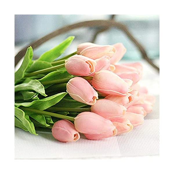 MARJON Flowers1 PC Real Touch Mini Tulip PU Artificial Fake Flowers by OPUSS Home Garden Wedding Decoration (Many Colors)