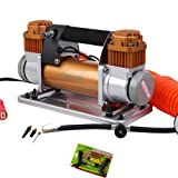 12V 180L/MIN AIR COMPRESSOR PORTABLE EXTRA HEAVY DUTY 4x4 Car Tyres Bike