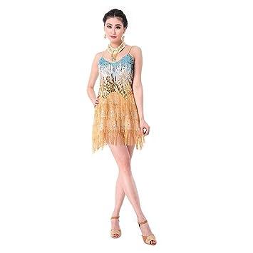 SymbolLife Señoras vestido latino de la danza , la salsa del salón Mujeres Samba Rumba Tango