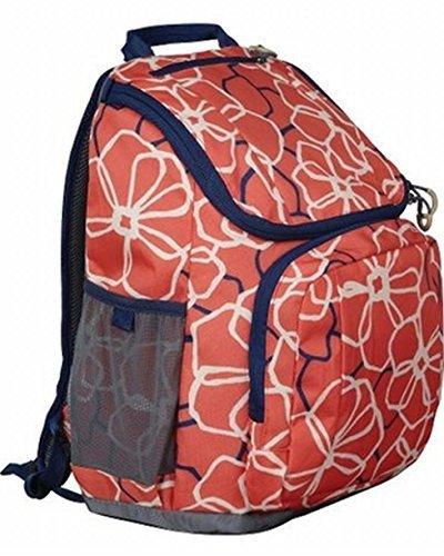 Embark 17 Jartop Backpack - Orange Floral Great For School Or Travel - Flowers
