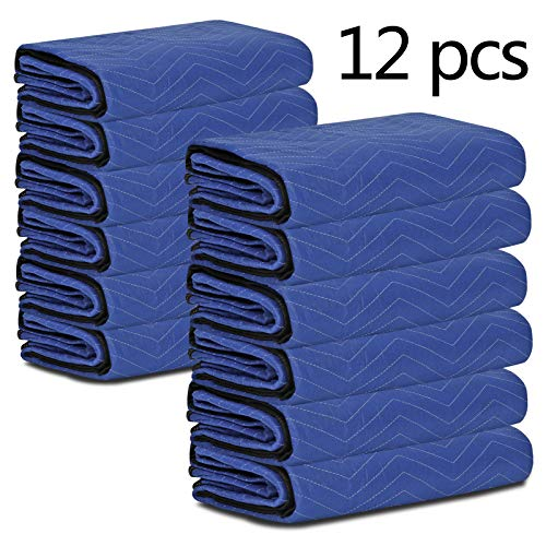 HomGarden 12 Moving & Packing Blankets - 80'' x 72'' Professional Quilted Shipping Furniture Pads Multi Purpose Blankets by HomGarden (Image #8)