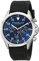 Stuhrling Original Men's 600.01 Aviator Multifunction Stainless Steel Watch