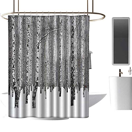 coolteey Shower Curtains for Bathroom Tropical Winter Decorations,Winter