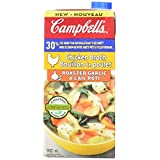Campbell's Roasted Garlic Chicken Broth, Less Sodium, 900ml