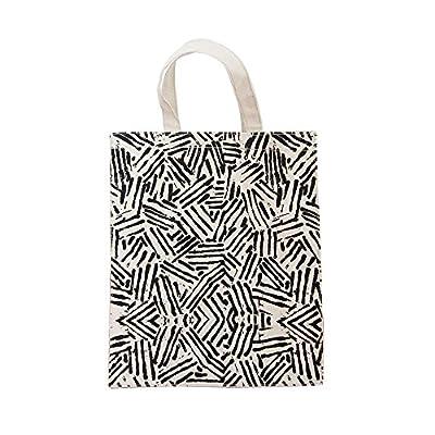 ASAPS Cat Black Printed Design Canvas Tote Bag