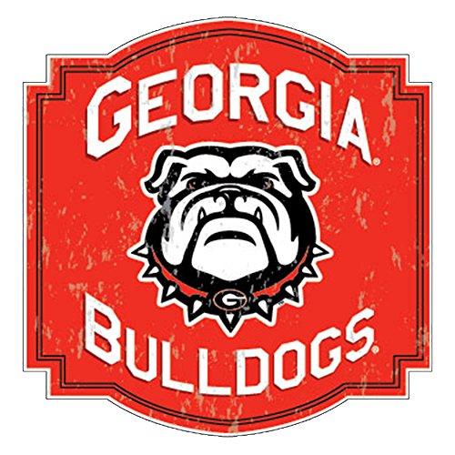 Georgia Bulldogs Retro Arched Badge W/New Mascot Decal Red ()