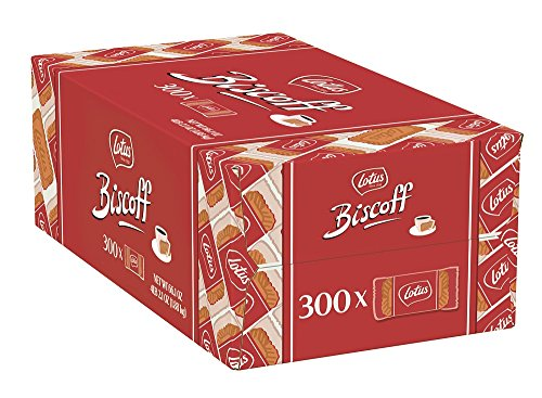 Lotus Biscoff Non GMO European Biscuit Cookies, 0.2 Ounce (Pack of 300)