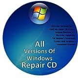 Windows Boot - Repair - Data Recovery Disk XP VISTA 7 8 8.1 10 2 cd pack