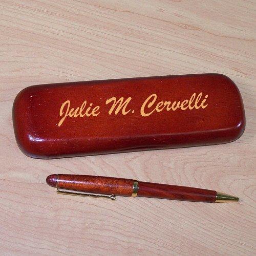 Personalized Rosewood Pen Set, Engraved - Engraved Desk Sets
