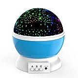 LED Night Lighting Lamp -Elecstars Light Up Your Bedroom With This Moon, Star,Sky Romantic - Best Gift for Men Women Teens Kids Children Sleeping Aid (Blue)