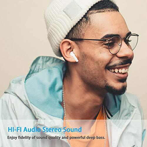 Bluetooth Kopfhörer, kabellose In-Ear-Kopfhörer mit Leistungsstarkem Bass, HiFi-Stereo-Klang Echte kabellose Ohrhörer, 30-Stunden-Spielzeit, IPX7 wasserdichte Sportkopfhörer mit Mikrofon