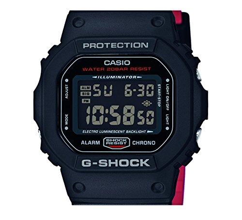 Casio Reloj Digital para Hombre de Cuarzo con Correa en Resina DW-5600HR-1ER: Amazon.es: Relojes