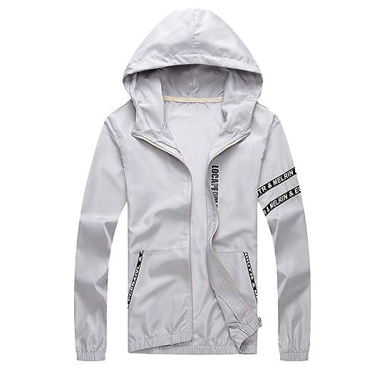 3f504b890 Amazon.com: Mens Casual Jacket Outdoor Sportswear Windbreaker ...
