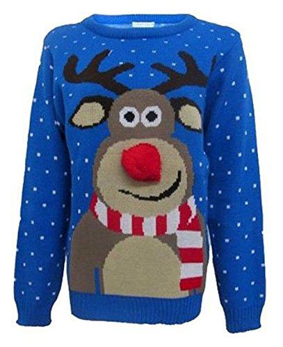 Ladies FashoinHope Nouveaut No l Rudolf Reindeer Pom Nez Pom ffgwxCdrq