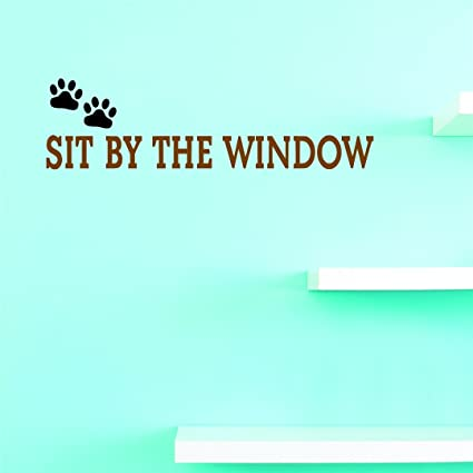 Amazon com: Design with Vinyl JER 1349 3 Decal Sit by Window