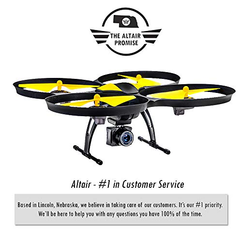 Altair 818 Hornet Beginner Drone with Camera, Live Video Drone for Kids & Adults w FPV, 15 Min Flight Time, Altitude Hold, Personal Hobby Starter RC Quadcopter for All Ages & Levels, Indoors & Out.