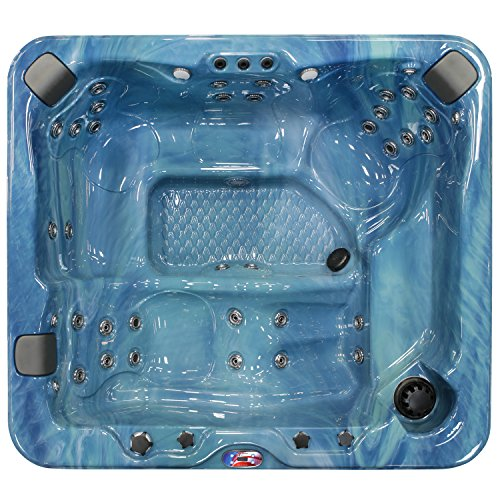 American Spas AM-637LP 5-Person 37-Jet Lounger Spa with Bluetooth Stereo System, Pacific Rim and Mist by American Spas