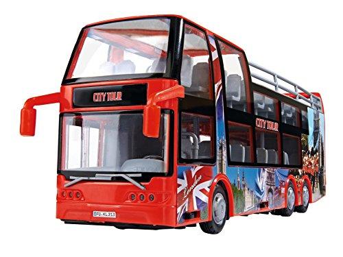 Dickie Toys 203825001 - Tourist Bus, Doppeldeckerbus, 29 cm