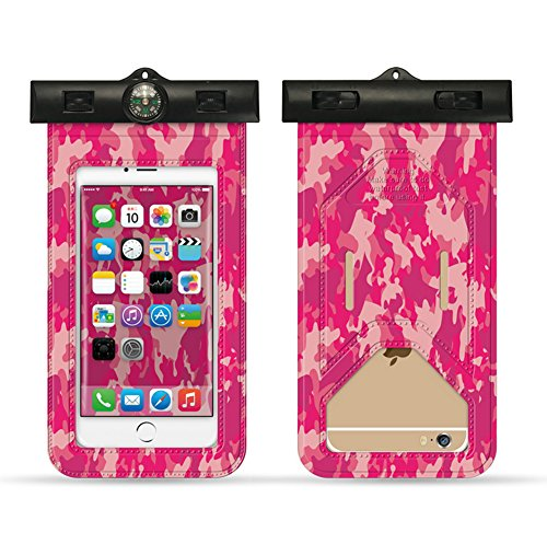 CAMO mobile phone waterproof bag use for indoor &outdoor activities, water sports, travels. (Charm (Pvc Mobile Charms)