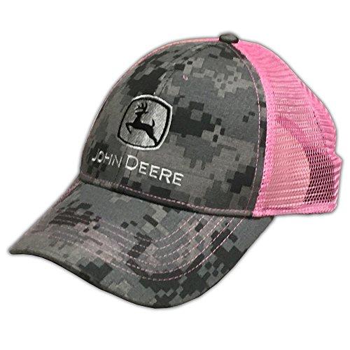 John Deere Digital Camo with Pink Mesh Snapback Hat - 2308-0419BK-00