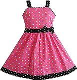 Sunny Fashion Girls Dress Pink Heart Print Size 11-12