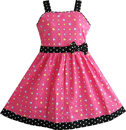 sunny-fashion-girls-dress-heart-print-pink-size-4-5