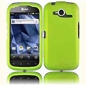 Compatible with Pantech Burst P9070 Rubberized Cover - Neon Green