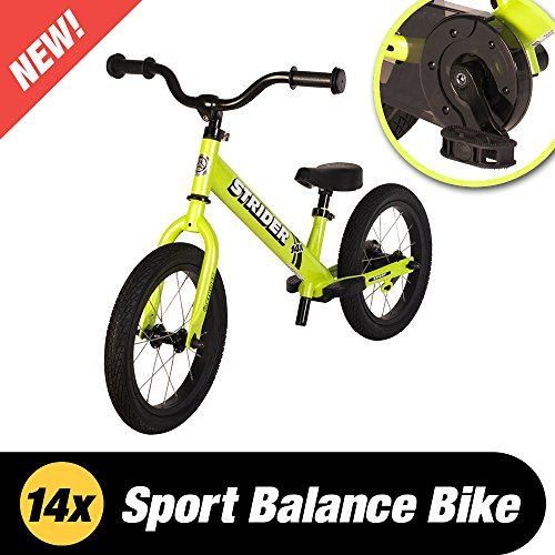 Strider 14 X 2-in-1 Balance to Pedal Bike, Fantastic Green