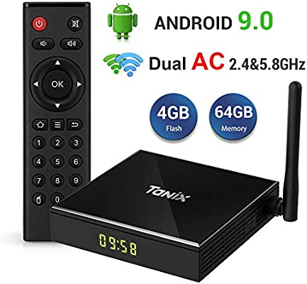 Android TV Box ,TV Box 9.0 [4GB + 64GB] RK3318 Quad-Core 64bit Cortex-A53 con AC WiFi 2.4&5.8GHz Smart TV Box, Soporte USB 3.0/BT 4.0/2k*4K/ H.265: Amazon.es: Electrónica