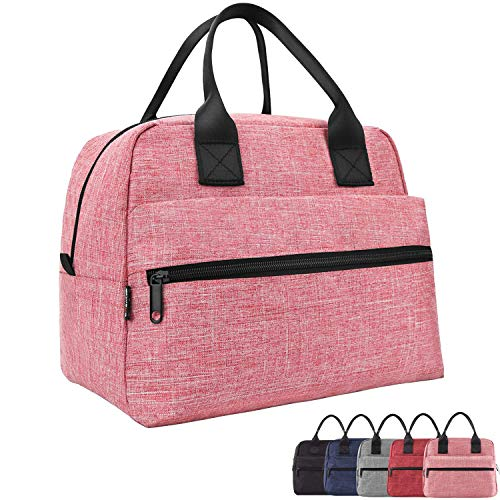 Lunch Bags For Women & Men Insulated Lunch Box For Lunch Cooler Tote(Pink)